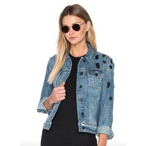 PAIGE -- Rowan Denim Jacket, Juniper Embellished